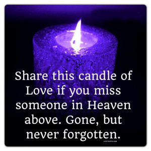 if you miss someone in Heaven