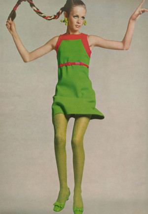 theyroaredvintage:br br Twiggy, 1960s. Vintage dress, tights, shoes ...