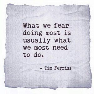 What We Fear Doing