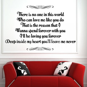 Home » Loving You Forever - Deep Inside My Heart - Wall Decals Quotes