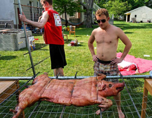 Abbott Fetes Barred Cardiologist with High Cholesterol Pig Roast