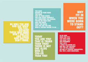 Dr. Seuss Quotes - Set of five prints for modern nursery or playroom ...