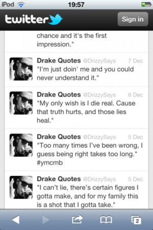 drake, drizzy, quote, swag, take care, twitter, ymcmb