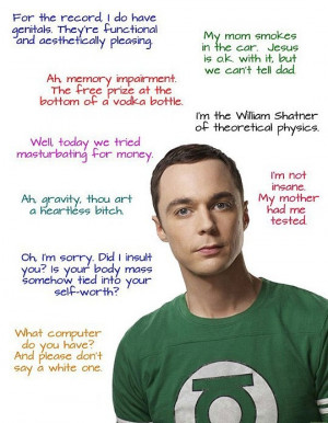 Great Quotes from Sheldon Cooper