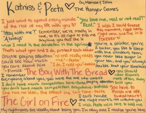 Mockingjay Quotes Peeta And Katniss Katniss and Peeta quotes by
