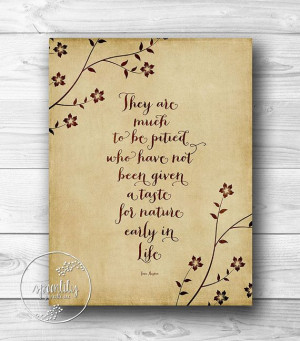 Printable Quotes Jane Austen Quote print wall art by SpoonLily, $5.00