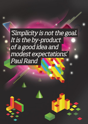 SIMPLICITY IS NOT THE GOAL, IT IS THE BY-PRODUCT OF GOOD IDEA AND ...