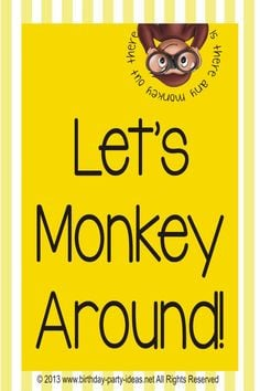 Best theme party for Curious George Birthday Party #CuriousGeorge # ...