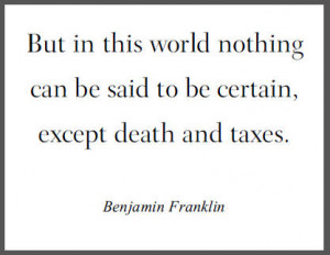 Death And Taxes Quotes
