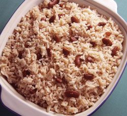 Real Jamaican Food: Rice and Peas (Red Kidney Beans). Also, has a link ...