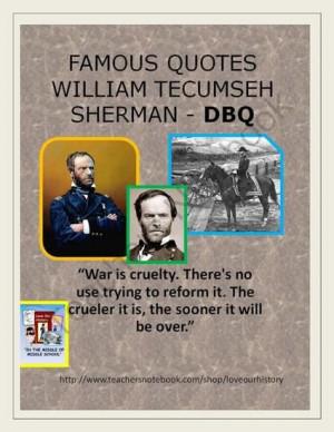 Civil War - Famous Quotes Interpretation -William Tecumseh Sherman ...