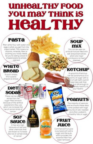 This article may help you to be aware that what you think is healthy ...