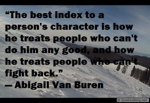 person`s character quote
