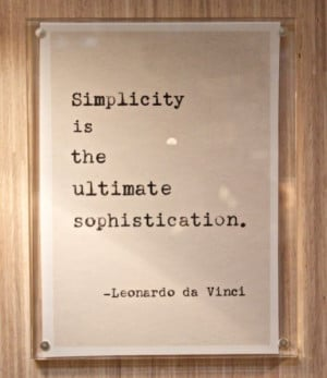 Vintage Typed Quote- DaVinci