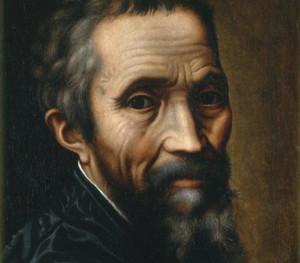 Detail from Marcello Venusti, 'Portrait of Michelangelo', 1535