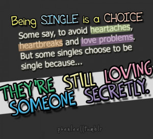 being single is a choice by phenlee