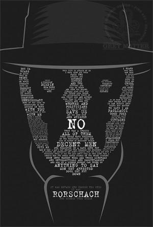 Rorschach Watchmen Quote Print by MarkItZeroNET