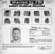 The FBI's wanted poster alerted people to an armed kidnapper.
