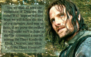 ... Gimli and Legolas, The Two Towers, Book III, The Departure of Boromir