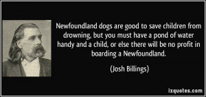 Newfoundland dogs are good to save children from drowning, but you ...