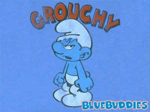 grouchy smurf t shirt grouchy t shirt he s grumpy