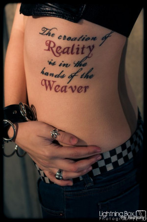 First-rate Cite Tattoo On Irish colleen Side Rib