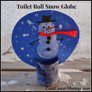 If you are interested in making this adorable toilet roll snow globe ...