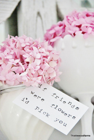 one pretty pin} If friends were flowers