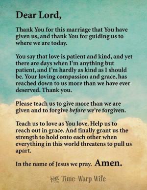 Free Printable Marriage Prayer