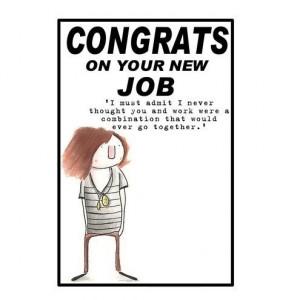 New Job Card Congrats...