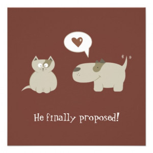 Funny Cat and Dog Save the Date invitation