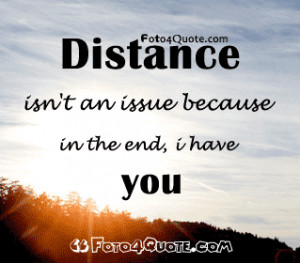 Distance love quotes – distance does not matter