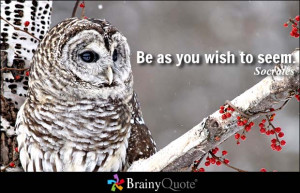 Be as you wish to seem. - Socrates