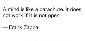 Mind parachute