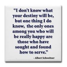 Dr. Albert Schweitzer - my inspirational person
