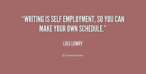 Lois Lowry Quotes About Writing