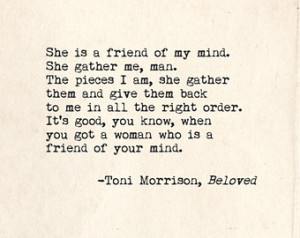Toni Morrison Beloved Quote. Inspir ational Art Print. Typographic ...