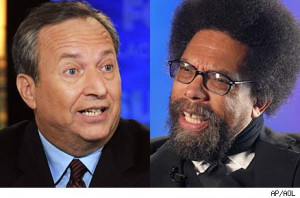Larry Summers and Cornel West