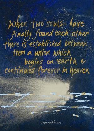 Citation de Victor Hugo, quand deux âmes se rencontrent Enfin ...