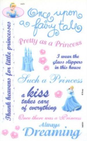 Disney Princess Sayings Rub-ons by Sandylion