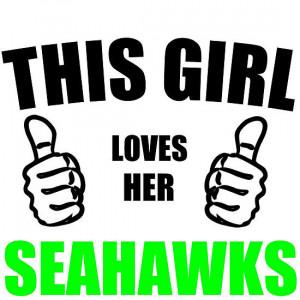 This girl loves her seahawks