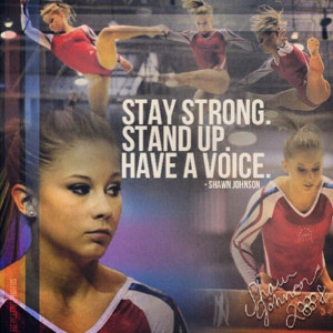Shawn Johnson!!! you are on of the best gymnasts ever and you are such ...