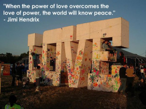 Jimi Hendrix Quote ~ The Power of Love - true-writers Photo