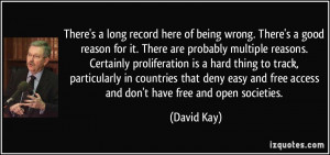 There's a long record here of being wrong. There's a good reason for ...