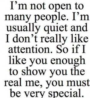 You Enough To Show You The Real Me, You Must Be Very Special: Quote ...