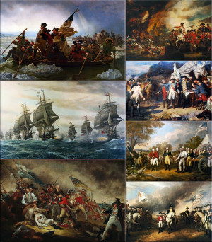 American Revolutionary War Collage