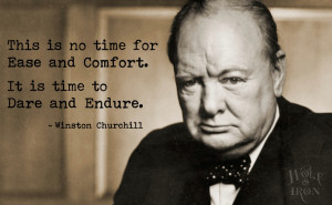 This is no time for ease and comfort. It is time to dare and endure.