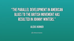 The parallel development in American blues to the British movement has ...
