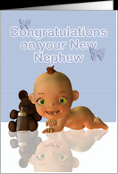 Congratulations A Beautiful Baby boy card - Product #364014