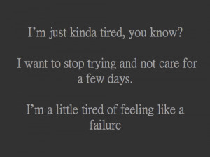 quote Black and White depressed depression sad quotes tired sadness i ...